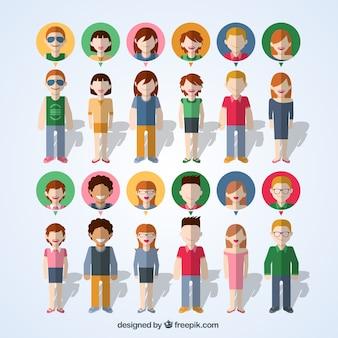 Gente colorida iconos