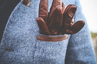 Gentlemans guantes de cuero