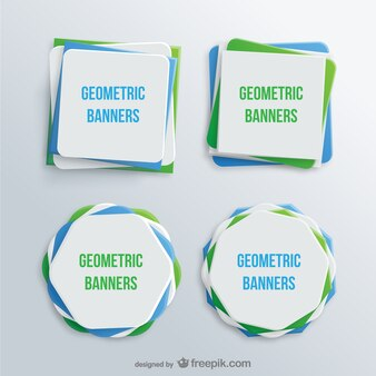 Banners geométricos