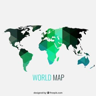 Geométrico mapa del mundo