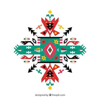 Geométrico ornamento étnico