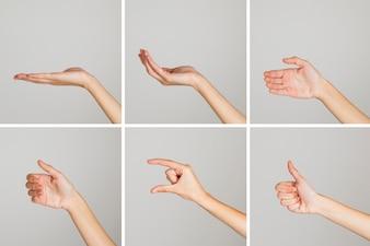 Gestos de manos aleatorios