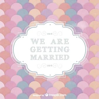 Invitación de boda de colores