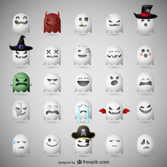 Emoticonos de fantasmas para Halloween