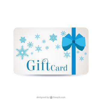Tarjeta de regalo con copos de nieve