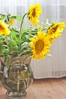 Girasoles en un florero