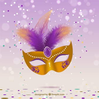 Glamurosa máscara de carnaval
