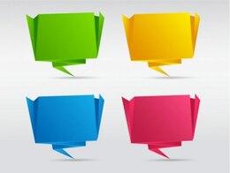 Globos origami establecen paquete de vectores