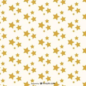 Patrón de estrellas doradas