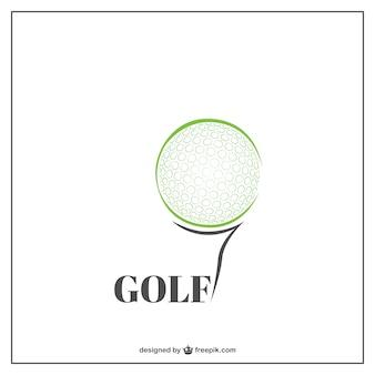 Plantilla de logo de golf
