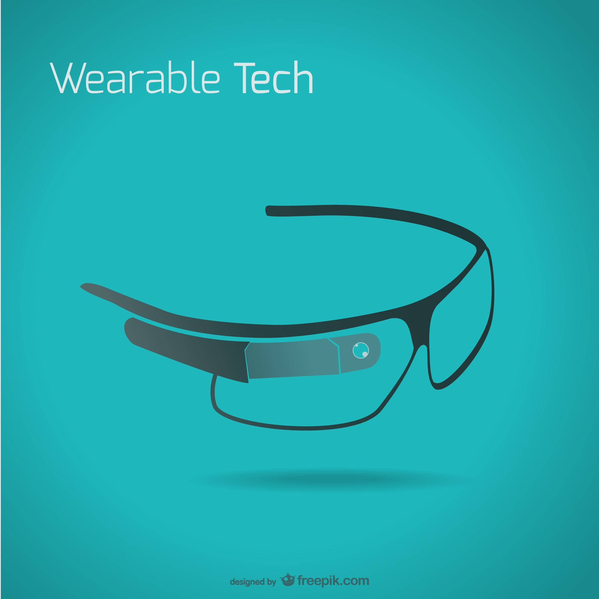 Vector de google glass