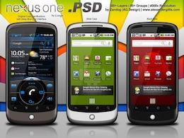 Google Nexus One redux psd