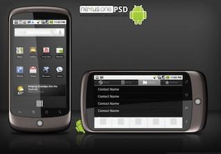 Google Nexus un teléfono en capas material de imagen de plantilla