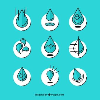 Gotas de agua Abstract