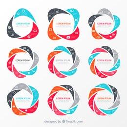 Gráficos circulares infografía
