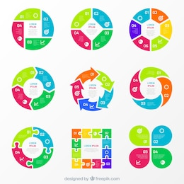 Gráficos coloridos para infografía