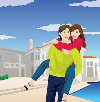 gran amor, pareja feliz