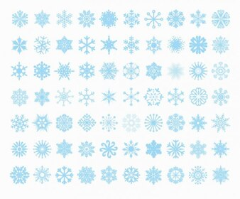 gran conjunto de los copos de nieve vectoriales