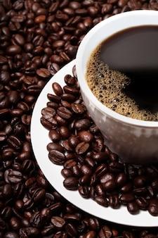 granos de café y el café ofrecido material de calidad de la imagen