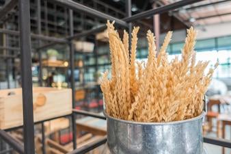 Granos de trigo natural.