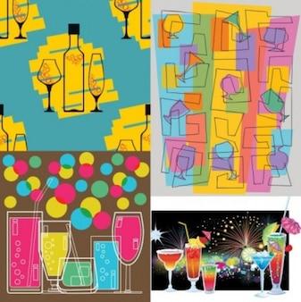 Gratis amarillo lindo azul rosado negro vintage pop línea misc proyecto copa copa vector
