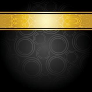 Gratis magnífico patrón de fondo vector dartk negros elegantes círculos amarillos