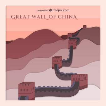 Gran Muralla de China vector