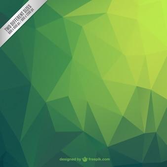Fondo poligonal abstracto verde