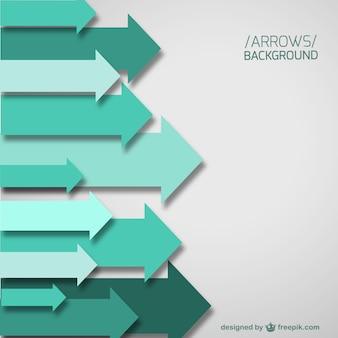 Fondo con flechas verdes horizontales