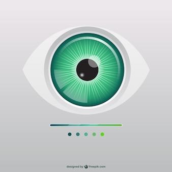 Ilustración de ojo verde