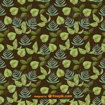 Patrón de hojas verdes