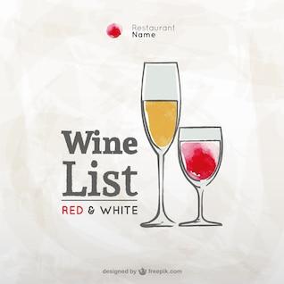 Grunge carta de vinos vector