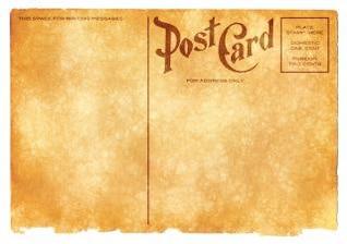 grunge en blanco postal sepia vendimia