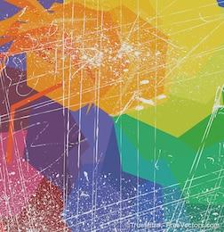 Grunge envejecido fondo abstracto del vector