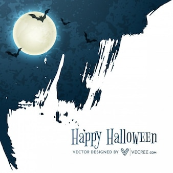 Grunge halloween luna de fondo abstracto