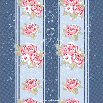 Patrón de fondo con rosas grunge