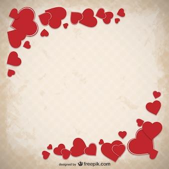 Fondo de San Valentín grunge