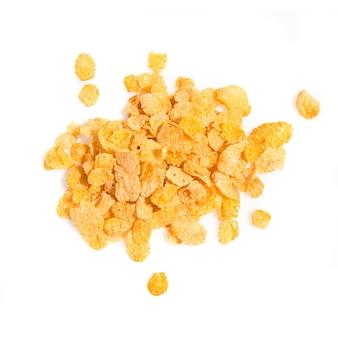 Grupo de cereales aislados sobre fondo blanco