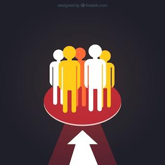 Grupo de personas objetivo