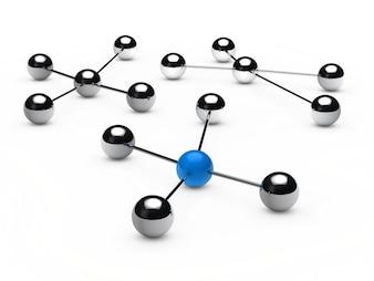 Grupos de esferas cromadas