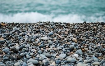 Guijarros playa Primer plano