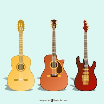 Vectores de diversas guitarras