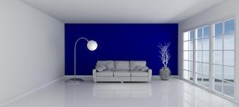 Habitación con un sofá