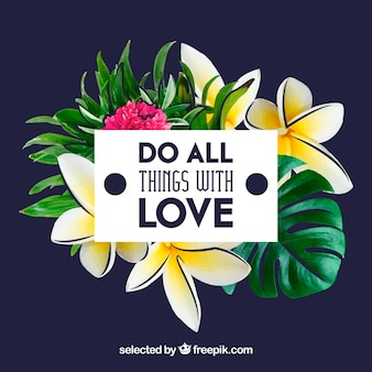 Haced todo con amor, tarjeta