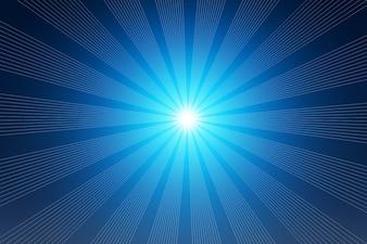 Haces de luz azul