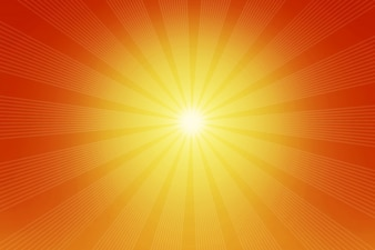 Haces de luz naranja