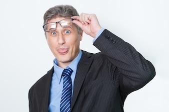 Haciendo anteojos empleador óptica loca