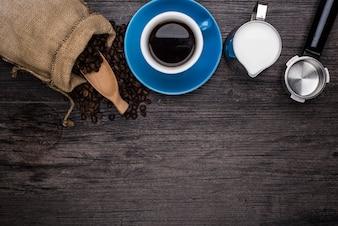 Haciendo un café