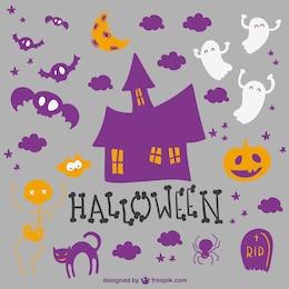 Halloween elementos de la colección