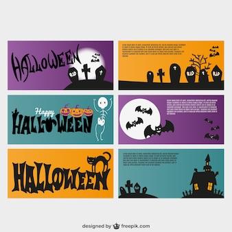 Tarjetas de invitación vectoriales para Halloween
